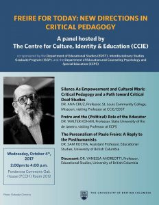 Freire for Today: New Directions in Critical Pedagogy