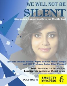 We Will Not Be Silent: Discussing Human Rights in the Middle East