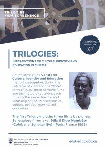 CCIE's first Trilogy: 3 films by Senegalese filmmaker Djibril Diop Mambéty