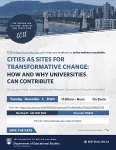 Cities as Sites for Transformative Change: How and Why Universities can Contribute
