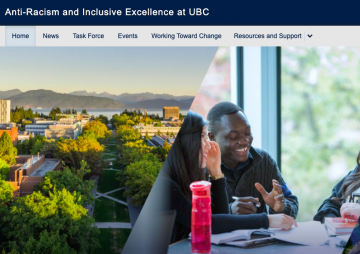 UBC Anti-Racism and Inclusive Excellence Website Launched